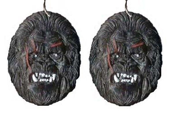 Funky Big Foot SASQUATCH EARRINGS BigFoot King Kong Ape Gorilla Costume Jewelry