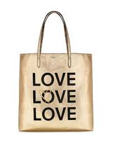 NEW Victoria's Secret Love Metallic Reversible Backstage Tote Bag Purse $58.00 - $43.06