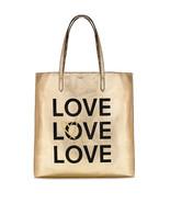 NEW Victoria's Secret Love Metallic Reversible Backstage Tote Bag Purse ... - $43.06