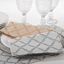 Fennco Styles Moroccan 18-inch Cotton Cloth Napkins, Set of 4 (Natural) - $34.64