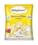 BABYDREAM Organic Snack Rice Cakes APPLE BANANA 8 mo UP-teething- FREE SHIP - $6.92