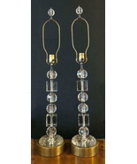 Art Deco Pair Crystal Prism Stacked Table Lamps 1940's - $750.00