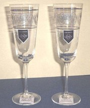 Lenox AUTUMN LEGACY Champagne Flute Set of 2 Etched Scroll $80 New - $34.90
