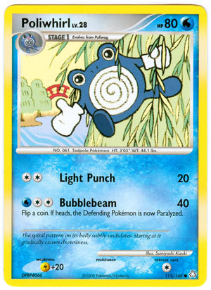 Poliwhirl 115/146 Common Legends Awakened Pokemon Card