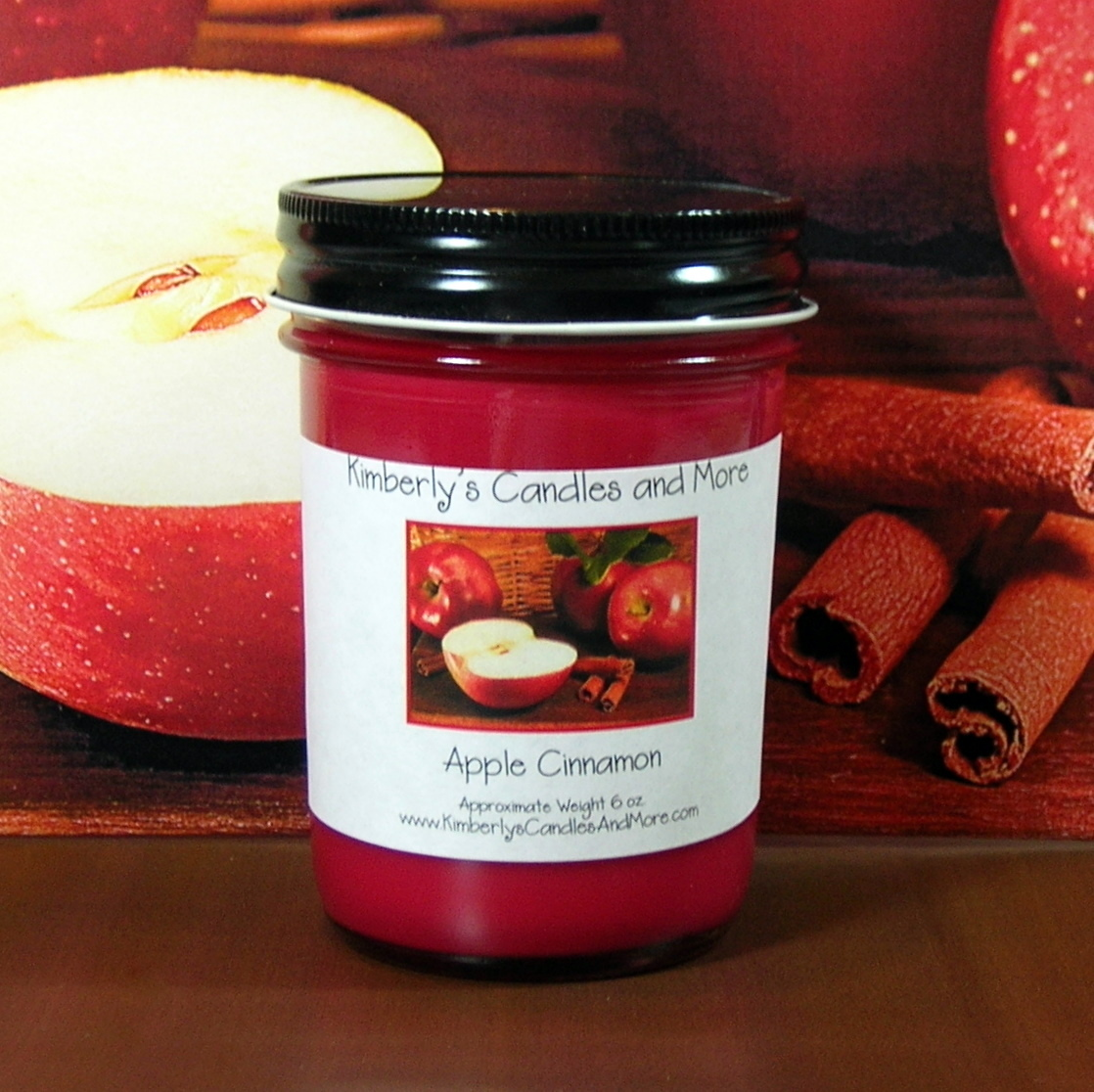 Apple Cinnamon Jelly Jar Candle PURE SOY