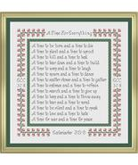 A Time For Everything cross stitch chart Cross Stitch Cards - $8.10
