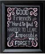 Good Friends cross stitch chart Bobbie G Designs - $5.40