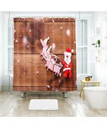 3D Weihnachten Xmas 02 Duschvorhang Wasserdicht Faser Bad Daheim Windows DE - $63.52+