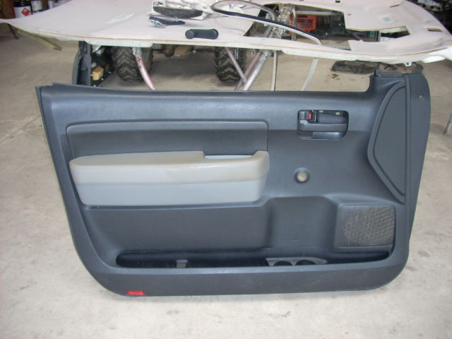 2007 TOYOTA TUNDRA LEFT FRONT DOOR TRIM PANEL