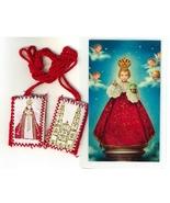 Laminated Prayer Card with Scapular - Santo Nino de Praga - L161.0249 - $3.99