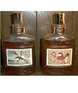 2 Jim Beam Duck Stamp glass bottle decanters - $140.00
