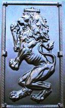 "Giant Mold 19""x34""x2"" Scottish Rampant Lion (Right Face) Wall Plaque, Fast Ship image 5"
