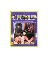 "36"" BLACK THEATRICAL HAIR & ADHESIVE HALLOWEEN COSTUME ACCESSORY - $12.09"