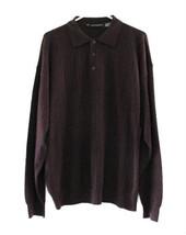 Jhane Barnes Maroon Wool Blend Knit 3 Button Sweater size XL/TG - $46.00
