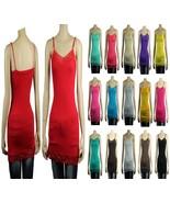 Lace Trim SPAGHETTI TANK TOP Adjustable Strap Long Layering Cami Tunic T... - $5.99