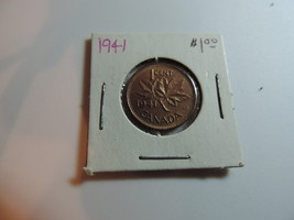 1941 Canadian Penny coin A240 - $6.03
