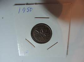1950 Canadian Penny coin A071 - $5.45