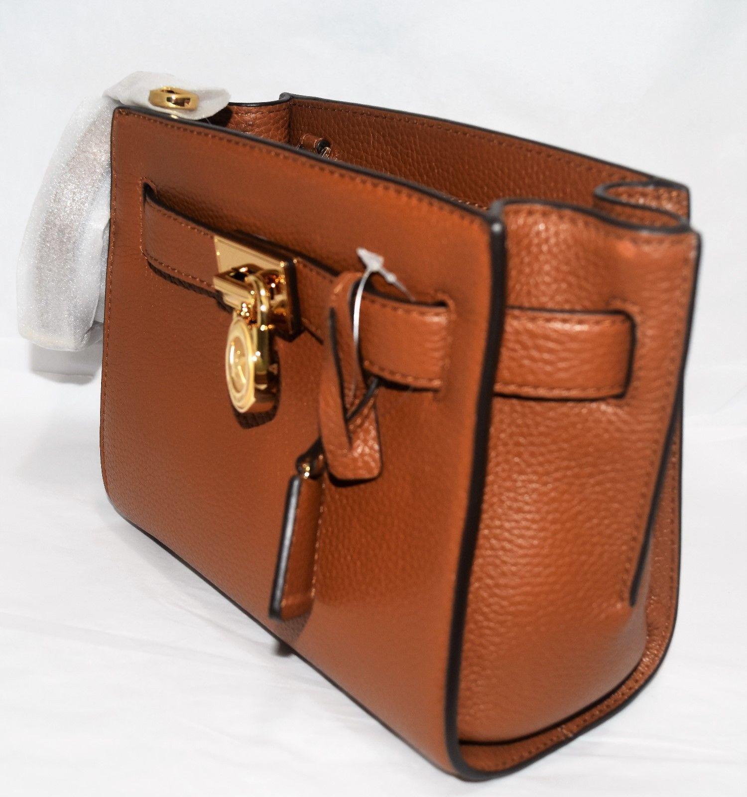 7266a135cd9f MK MICHAEL KORS Hamilton Traveler Messenger Shoulder Bag Luggage Brown NEW