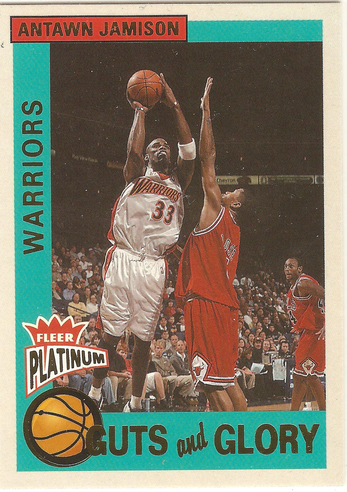 Primary image for Antawn Jamison Fleer Platinum 02-03 #3 Guts and Glory Golden State Warriors