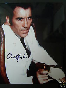 CHRISTOPHER LEE (SCARAMANGA )ORIG,AUTOGRAPH PHOTO