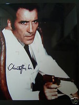 CHRISTOPHER LEE (SCARAMANGA )ORIG,AUTOGRAPH PHOTO - $128.70