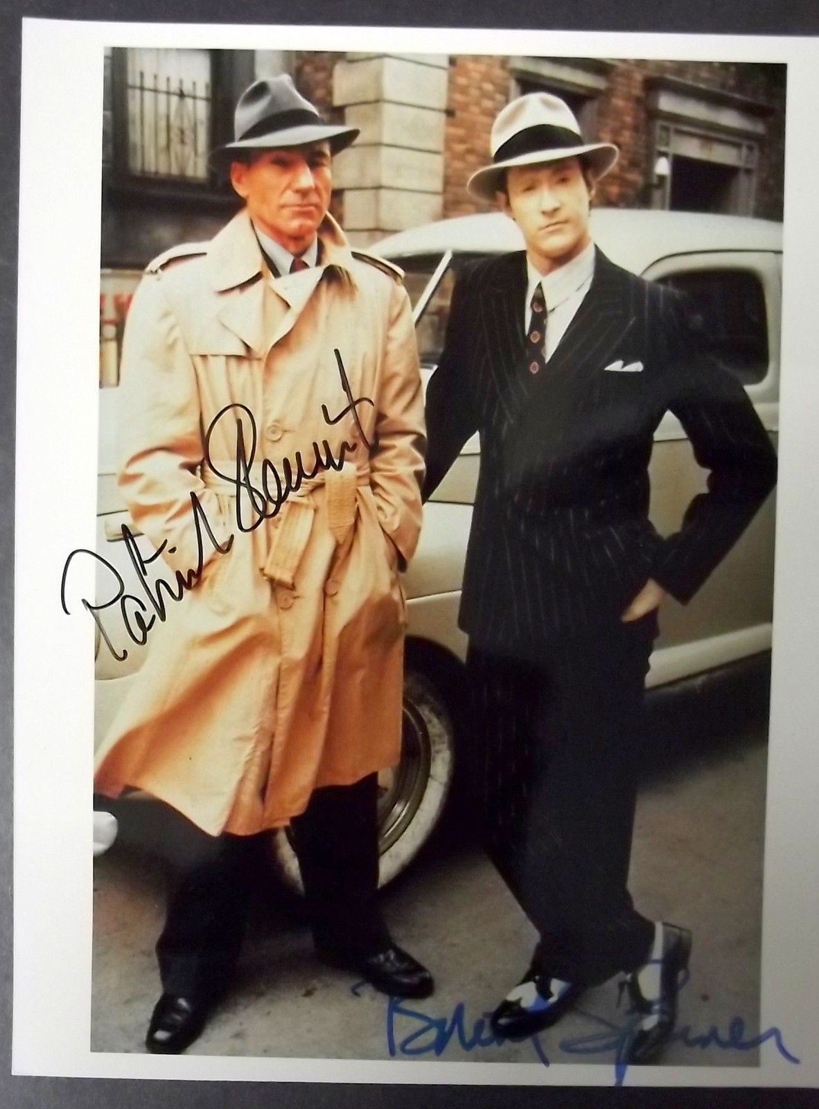 PATRICK STEWARD,BRENT SPINER (STAR TREK GENERATION) ORIG,AUTOGRAPH PHOTO (WOW)