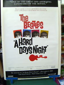 THE BEATLES (A HARD DAYS NIGHT) RARE SCREENING POSTER