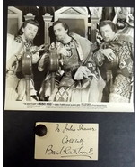 BASIL RATHBONE (ADVENTURES OF ROBIN HOOD) ORIGINAL VINTAGE AUTOGRAPH - $1,188.00