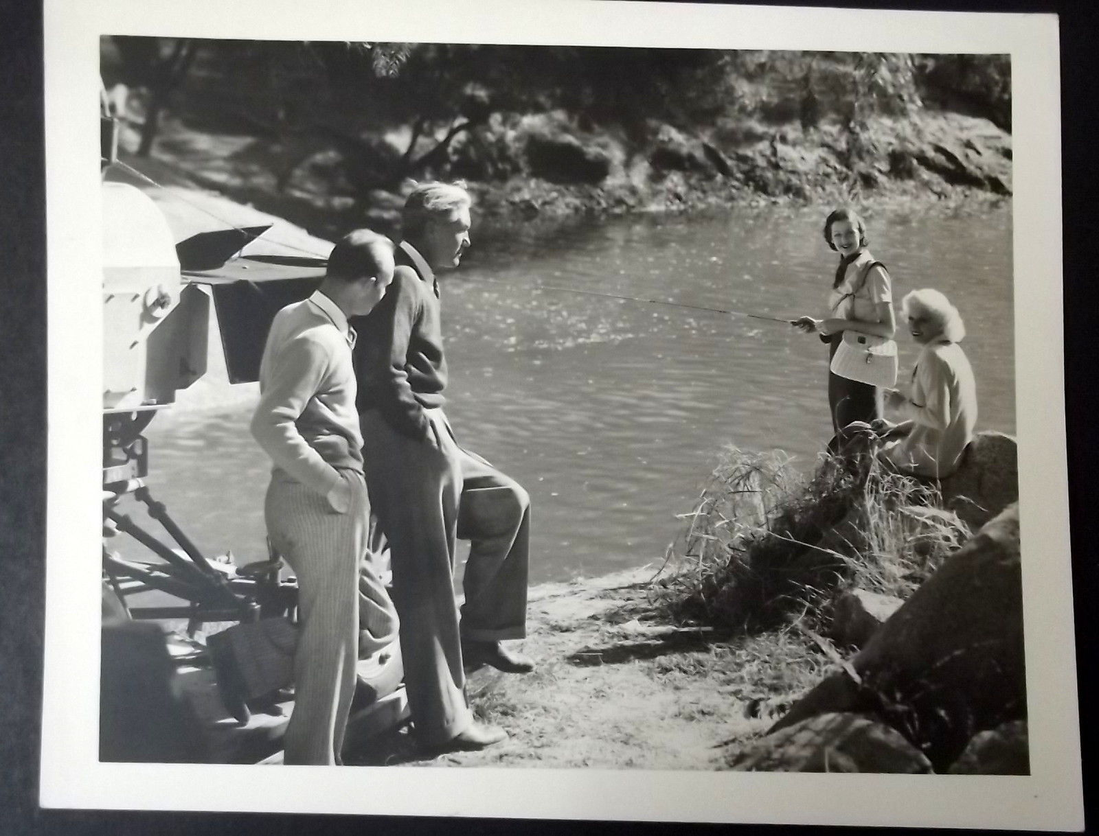 JEAN HARLOW,VICTOR FLEMING,DIRECTOR (RECKLESS) ORIG,1935 ON LOCATION PHOTO (WOW)