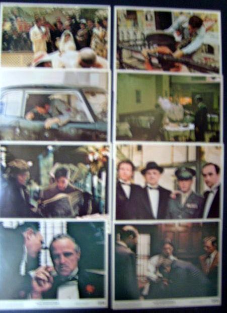 MARLON BRANDO.A.PACINO (THE GODFATHER) ORIG,1972 COLOR STILL SET (CLASSIC) WOW