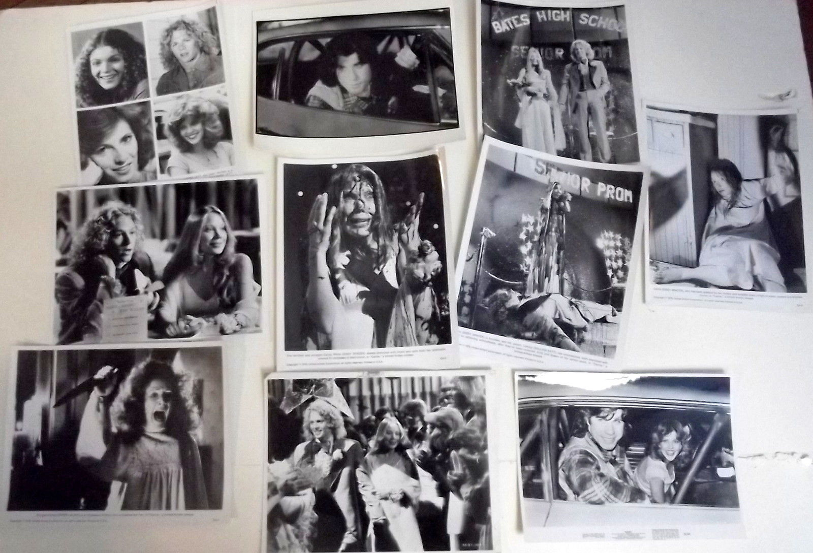 BRIAN DePALMA,SISSY SPACEK (CARRIE) ORIGINAL PHOTO SET (CLASSIC STEVEN KING)