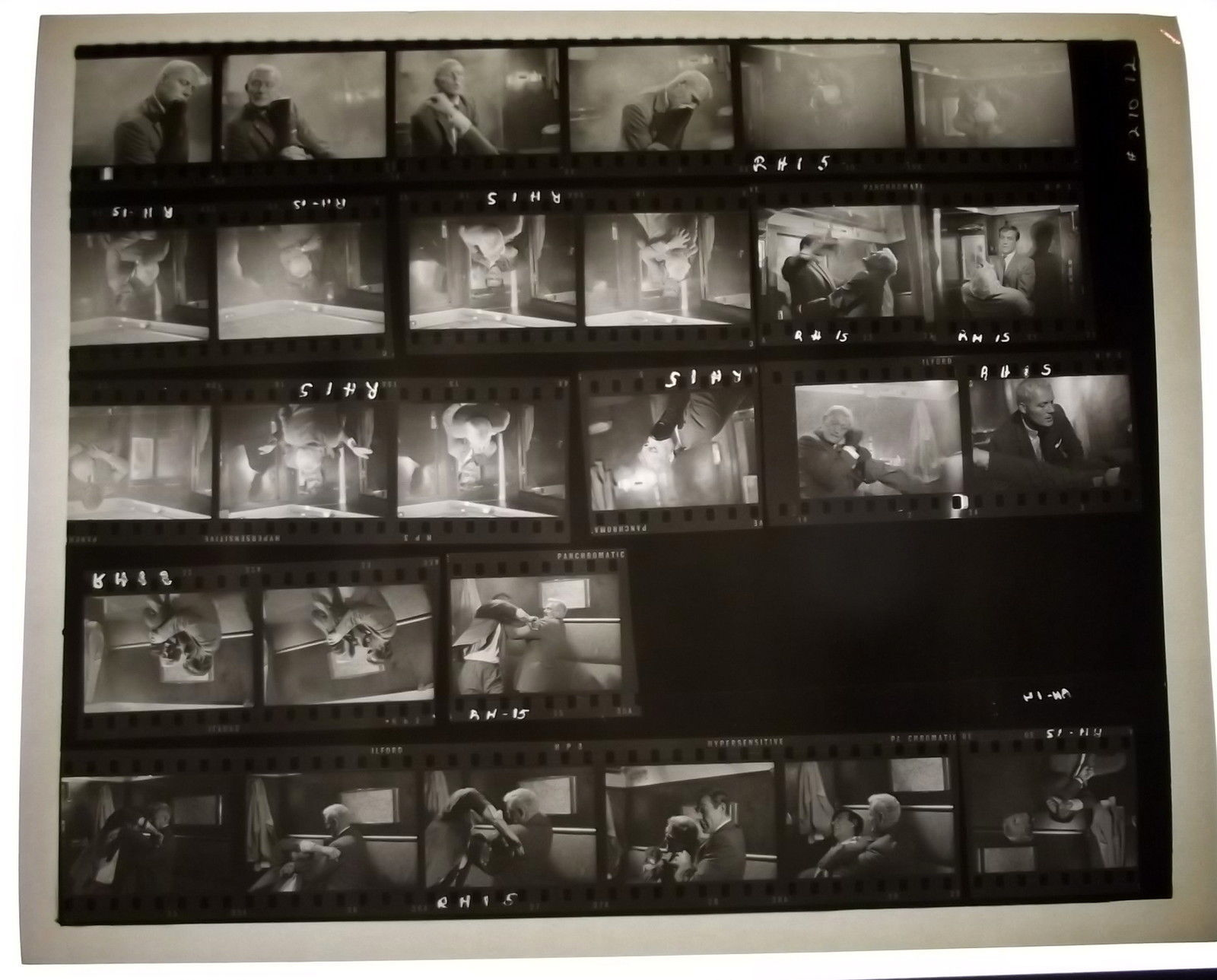 SEAN CONNERY BOND 007 (FROM RUSSIA WITH LOVE) ORIG,1963 CONTACT SHEET PHOTO # 1
