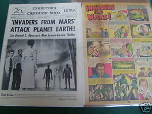 INVADERS FROM MARS 1953 CAMPAIGE BOOK SIGN BY J.HUNT