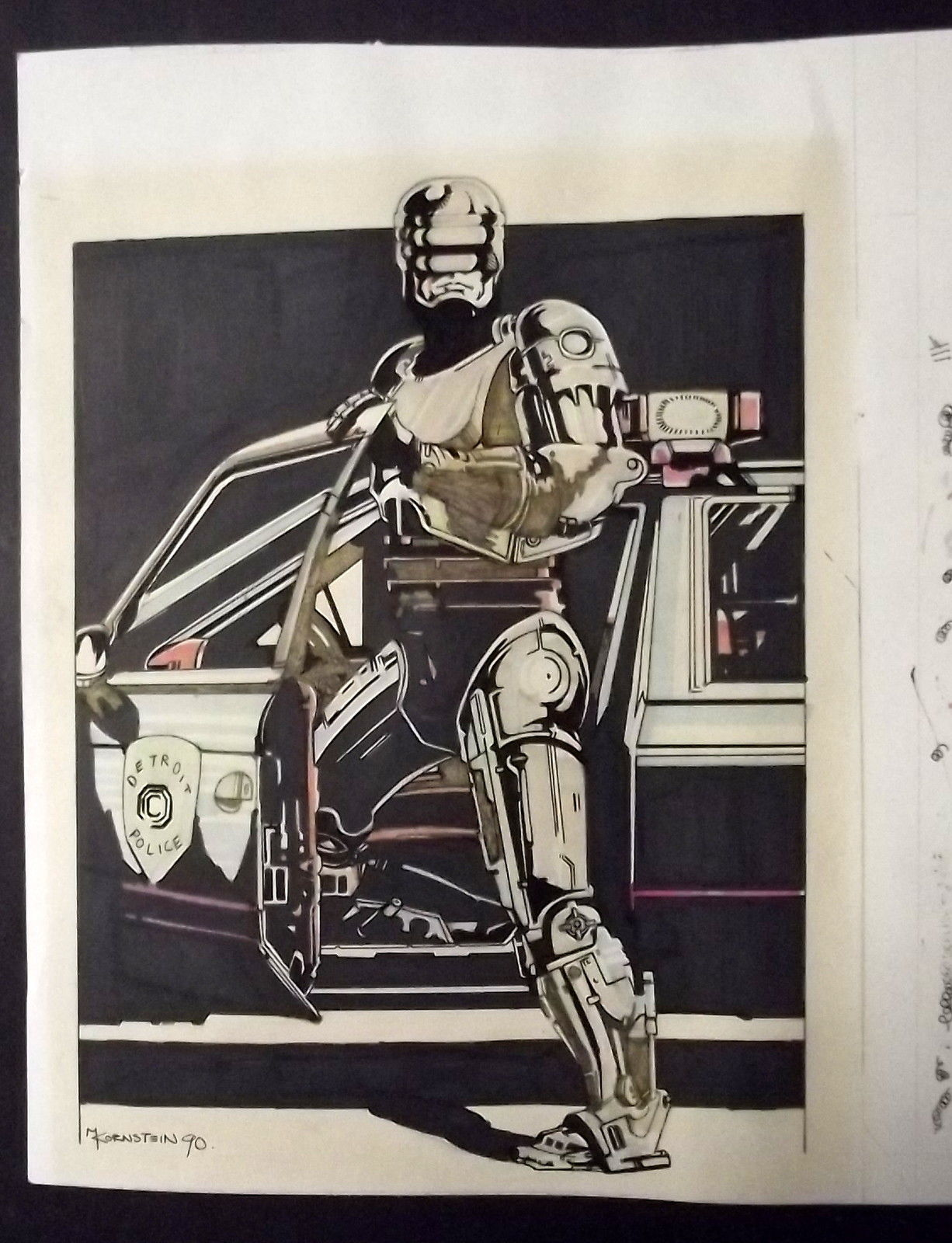 KORNSTEIN ORIG,ARTWORK (ROBO COP) ORIGINAL ARTWORK COVER