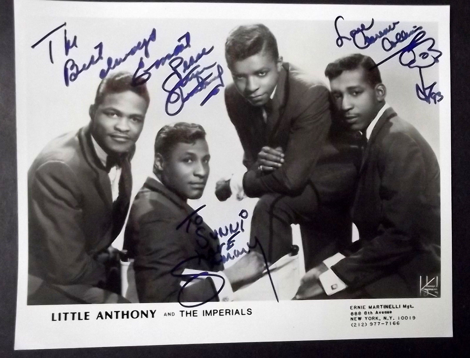 LITTLE ANTHONY AND THE IMPERIALS (ORIGINAL AUTOGRAPH PUBLICITY PHOTO) CLASSIC
