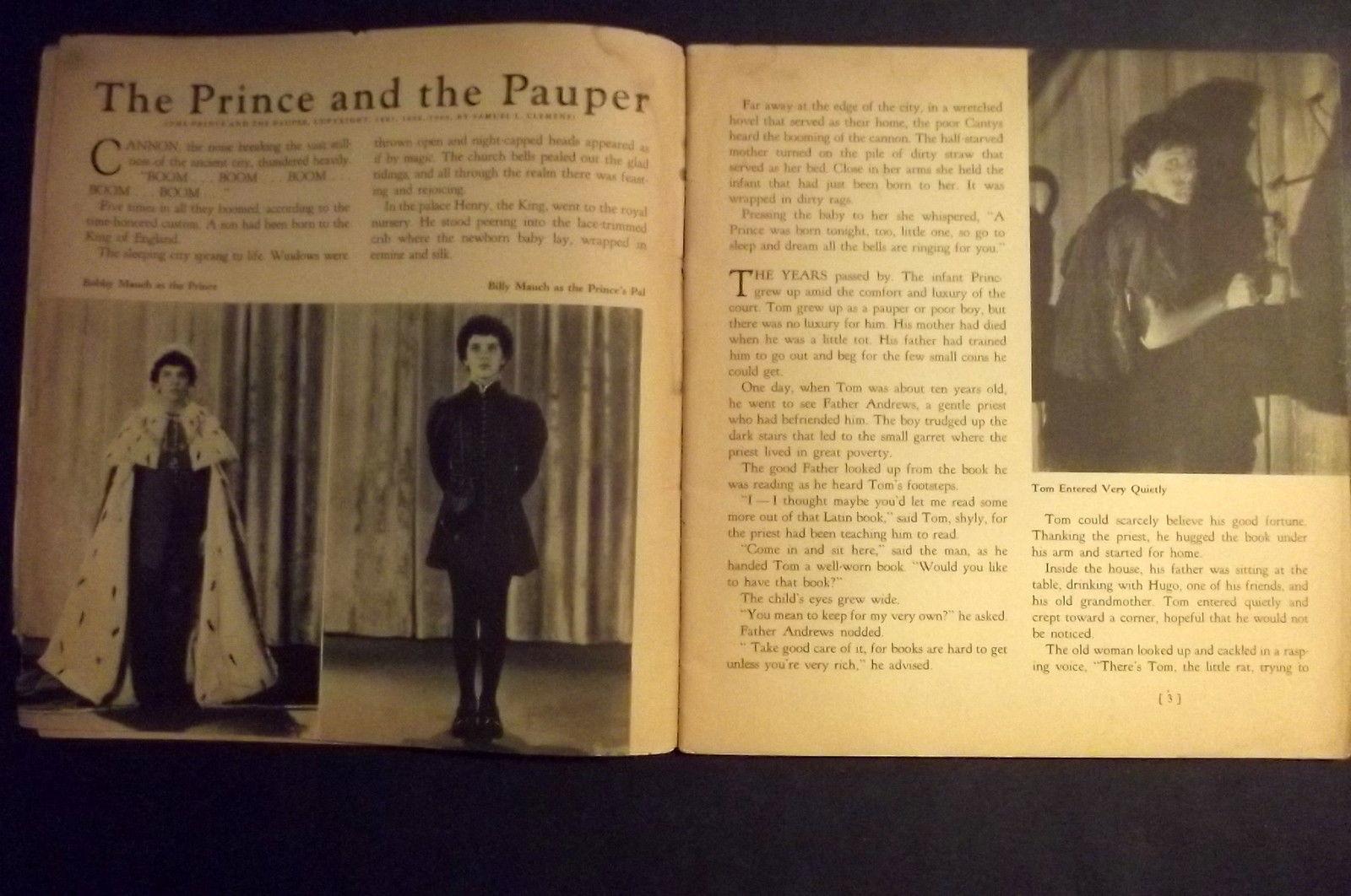 ERROL FLYNN  (PRINCE AND THE PAUPER) ORIGINAL 1937 PROGRAME