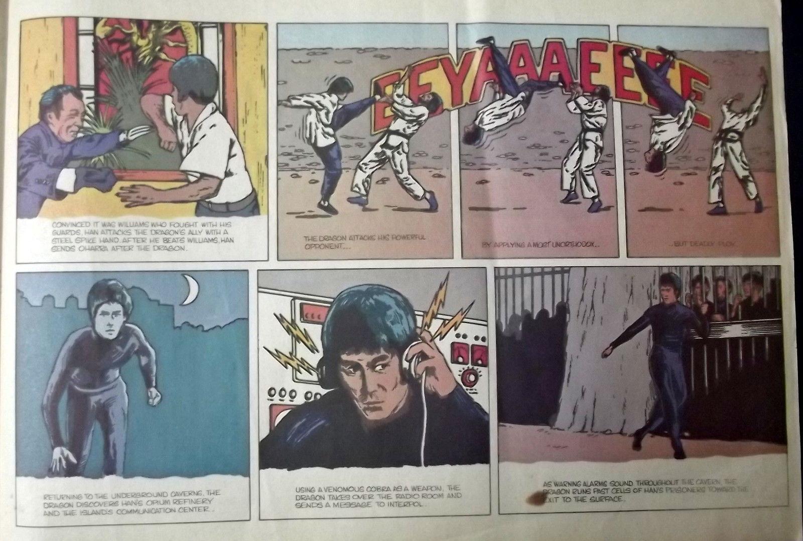 BRUCE LEE (ENTER THE DRAGON) RARE PROMO COMIC BOOK HARALD (CLASSIC ) WOW