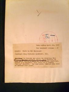 GENE TIERNEY (ORIG,1945 CANDID PHOTO HOLLYWOOD  CLUB)