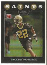 Tracy Porter Topps Chrome 2008 #TC267 Xfractor Rookie Card New Orleans Saints - $1.50