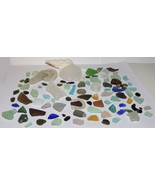 Genuine Surf Tumbled Sea Glass 95 pc. Lot Colors of The Rainbow! Mixed - $45.00
