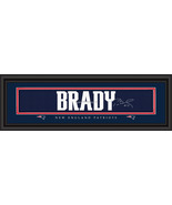 Tom Brady New England Patriots Player Signature Stitched Jersey Framed Print - $34.99