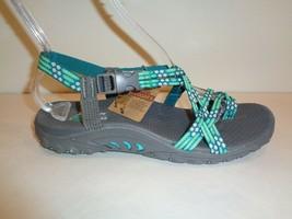 Skechers Size 9 REGGAE LOOPY Mint Amp Green Toe Ring Sandals New Womens ... - $46.73