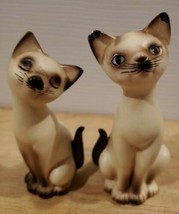 Vintage Siamese Cat Salt And Pepper Shakers - Ceramic - $12.59
