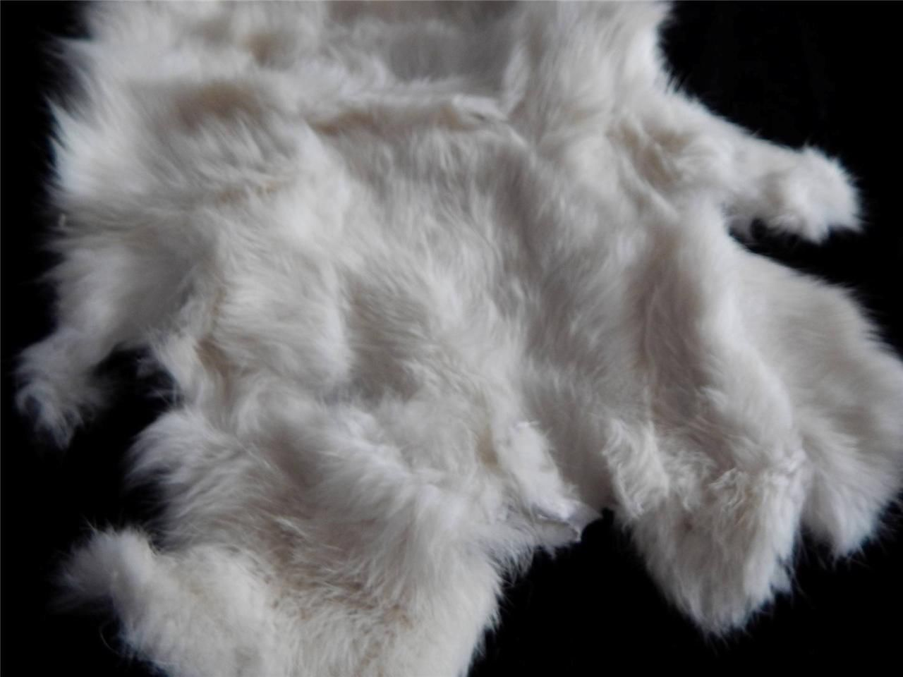 Rabbit Skin Fur Pelt Tanned Soft Easter Christmas Crafts Display Authentic