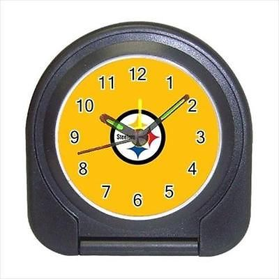 Pittsburgh Steelers Compact Travel Alarm Clock - NFL Football (Battery Included)