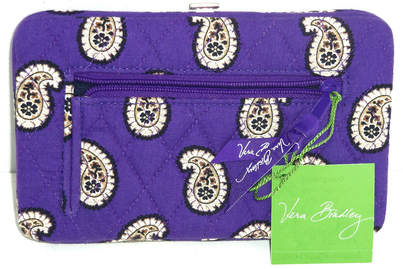 Vera Bradley Opera Wallet Blue Lagoon Boysenberry Twirly Birds Pink Violet New