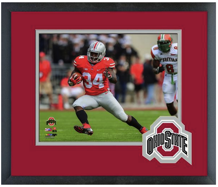 Carlos Hyde 2013 Ohio State University Buckeyes- 11 x 14 Matted/Framed Photo