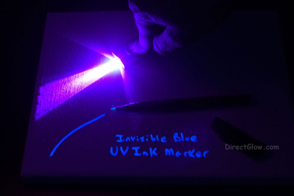 Mini Keychain Blacklight with Invisible Blue UV Marker for sale  USA