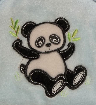 Baby Boys Plush Panda Blanket
