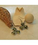 GreenBaltic Amber Triangle Earrings - $28.00